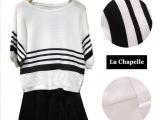 2014秋新韩版套装拉夏贝尔女格纹针织两件套针织衫+裙10006