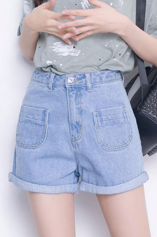 河源义乌批发市场韩版破洞双侧管三分热裤市集热销爆款跑量批发