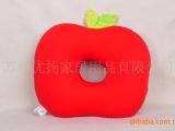 批发加工定制苹果坐垫泳装氨纶面料粒子填充抱枕靠垫玩具