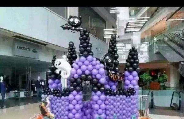 气球布置 生日派对气球装饰 商场开业气球拱门
