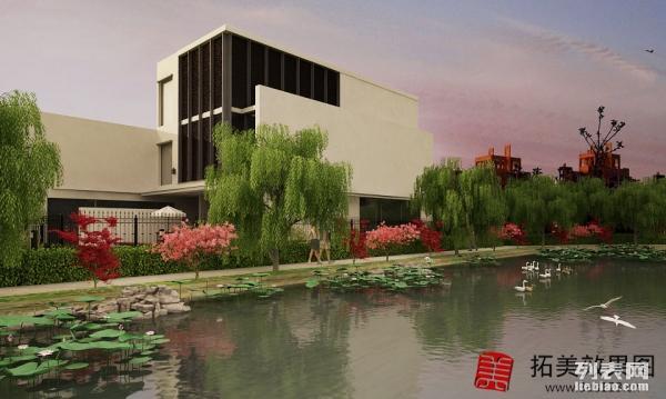 3D效果图制作承接德州装修公司机构 厂房园林建筑效果图