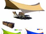 防紫外线防雨遮阳棚 户外天幕野营帐篷地席超大超轻凉棚雨棚铁杆