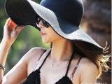 2014新款大沿帽沙滩遮阳宽檐 草帽女出游必备帽子批发时尚夏天