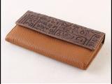 复古进口头层牛皮钱包女长款韩版高档大容量女式钱包真皮钱夹包邮