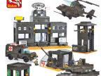 正品批发 小鲁班积木陆军部队系列7100陆军总部 儿童益智拼装玩具