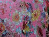 格丽特 细葱鳄鱼纹 印刷花朵PU皮革 新