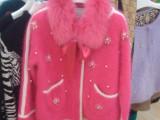 2014秋冬新款高端女装钉珠款貂绒大衣毛衣外套女针织厚