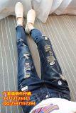 广州十三行服装批发有厂家外贸5元牛仔裤批发市集热销爆款女装