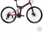 私人半价转让全新双减震折叠型自行车