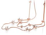 CAROMAY/卡洛美 韩版时尚双层蝴蝶结进口裸钻长款项链 正品