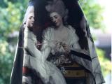 原创品牌复古印花短裙 **高端定制经典宫廷油画半身裙女装短裙