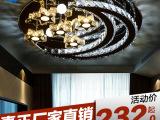 客厅现代简约时尚水晶灯led吸顶灯圆形卧室灯餐厅灯灯具灯饰701
