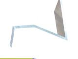 鋁鎂錳金屬屋面支撐 方管擋雪系統 7字型擋雪片 積雪融雪系統