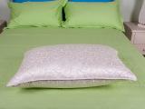 厂家批发酒店布草床上用品套件羽绒枕 纯棉羽绒洗湿透气羽绒枕