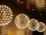铭星LED火花球吊灯星球吊灯中空吊灯客厅餐厅吊灯咖啡厅工程灯