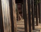 户外方钢木纹漆施工 邯郸小区廊架木纹漆施工