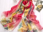 2015新款春夏季韩国版数码仿真丝长丝巾 防晒披肩 女士丝巾 厂家