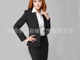 2015新品男女搭配修身型职业套装 黑色商务1粒扣正装西服西装批