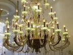 高档水晶锌合金吊灯蜡烛水晶灯酒店灯工程灯大吊灯
