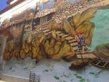东莞墙体彩绘壁画 文化墙 手绘墙画设计 博物馆壁画