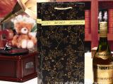 厂家直销手提纸袋 橄榄油茶油礼品袋 包装纸袋 黑藤条酒袋 双支