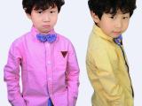 2015春季新款韩版时尚蝴蝶领结男女童衬衫 厂家直销 一手货源批