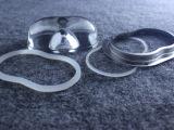花生米形状玻璃透镜 COB LED专用玻璃透镜 配固定支架、防水