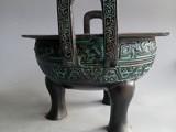 西周波曲纹鼎青铜器定制文物修复大型青铜器定制