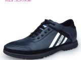 温州批发头层牛皮新款英伦时尚潮真皮系带浅口运动休闲鞋男士皮鞋