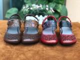 廣州外貿女鞋批發,手工復古真皮女鞋批發,原創民族風女鞋批發
