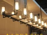 创意现代中式酒吧吊灯 咖啡厅中式大型吊灯 现代餐厅led吊灯