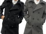 男式风衣2014新款秋冬韩版修身男大衣中长款羊毛呢风衣男外套大码