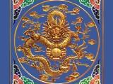 泉州盛古装饰蓝底金龙全新定制款古建寺庙天花板吊顶