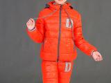 2015冬季新款儿童羽绒服套装 加厚休闲保暖男女童装两件套批发