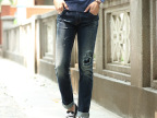 2014秋冬男装 男式牛仔裤韩版男士修身弹力小脚牛仔裤MA