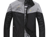 2014春装七皮狼新款批发 时尚男装外套 男士休闲运动服夹克单衣