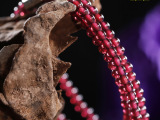 厂家直销 AAAAA级精品玫红石榴石手串 原创三圈美颜宝石手链批