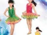 六一儿童舞蹈服装女幼儿童演出服公主裙蓬蓬裙现代亮片纱裙表演服