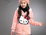 女童2014秋冬新款两面穿卡通加厚卫衣 免费代理加盟代发