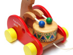出口木制小熊敲鼓 宝宝学步学爬拖拉  儿童益智早教玩具MG1001