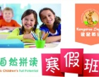 袋鼠少儿英语儿童英语自然拼读寒假英语班火热招生啦