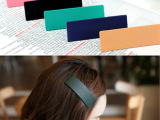 韩国方块长方形BB夹 糖果色磨砂亚克力发夹边夹 新款发卡头饰品