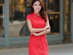 旗袍 2014新款红色新娘冬款加棉旗袍 复古唐装长款旗袍