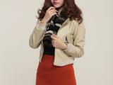 2015春款外贸女式皮衣 欧美Z家大牌机车款女皮夹克pu外套