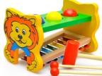 婴幼儿童木制八音手敲琴台 宝宝木质钢片8音琴音乐玩具