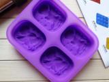 长期供应硅胶模具 四孔天使模具 手工皂模具 男女小天使模组合模