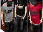 2014韩版纯棉修身短袖t恤男装批发 青少年休息打底t恤衫一件代发