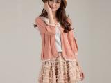 新款女装韩版短款可爱小开衫薄针织衫外搭披肩新品小外套针织开衫