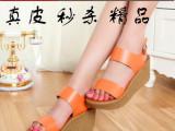 新款高跟厚底坡跟 鱼嘴凉鞋夏季时尚露趾女鞋子凉鞋