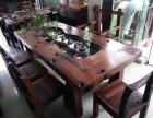 浙江批发各种老船木茶桌椅船木沙发椅长椅背靠椅组合